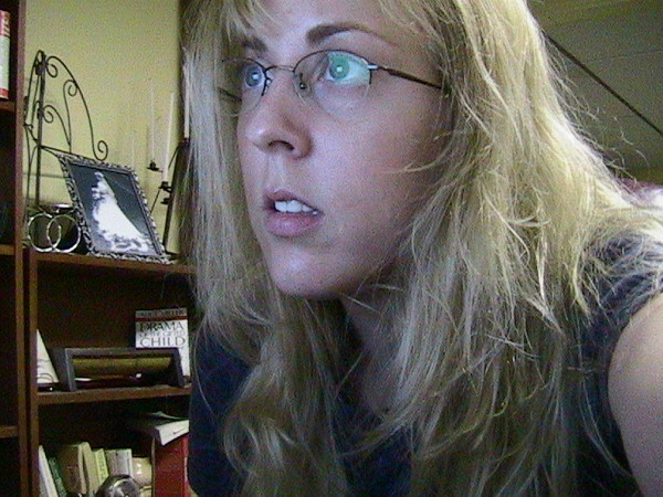 me with no make-up, blond hair
