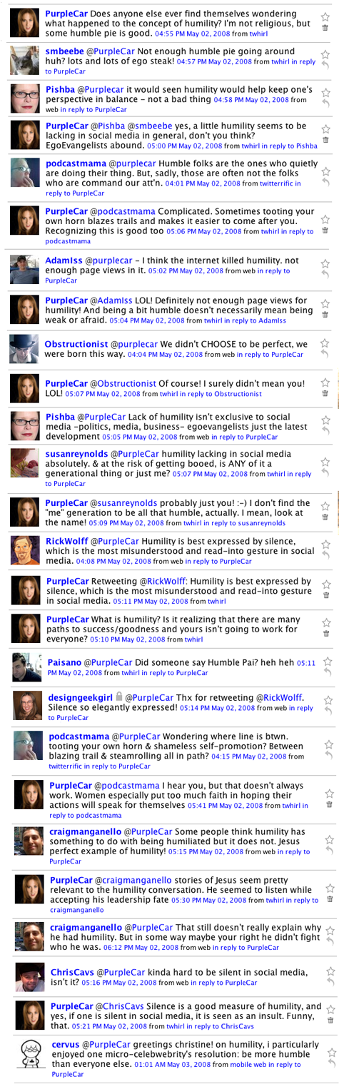 Twitter Conversation on Humility