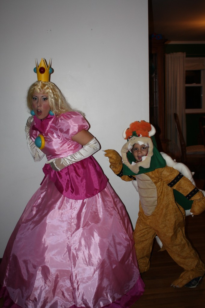 Princess Peach and Bowser