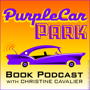 purplecar, orange background by Rick Wolff