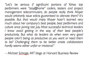 HBR.org quote by Michael Schrage
