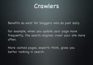 Crawlers slide with lessons learned