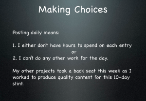 Making choices slide