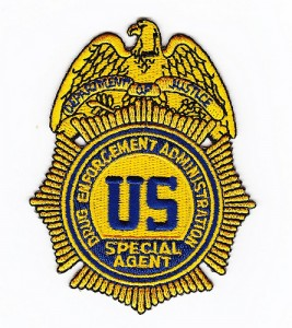 embroidered badge of the Drug Enforcement Agency