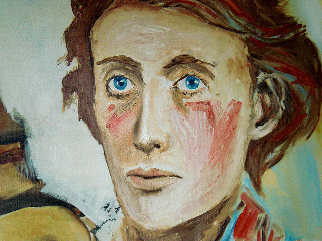 portrait painting of Virgina Woolf