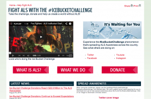 ALSA.org's page about the ice bucket challenge