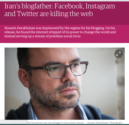 Derakhshan in the Guardian